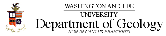 Washington and Lee Deparment of Geology Logo